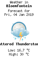 Weather in Bloemfontein