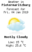 Weather in Pietermaritzburg