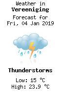 Weather in Vereeniging
